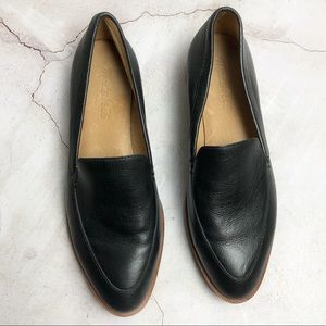 Black Madewell Leather Slip on Loafers